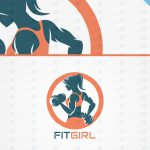Spectacular Female Fitness Logo For Sale | Gym Logo