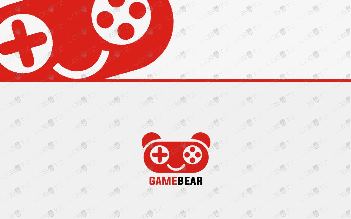 bear gaming logo for sale