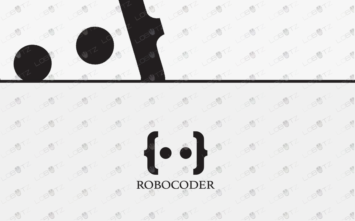 robot coder logo for sale
