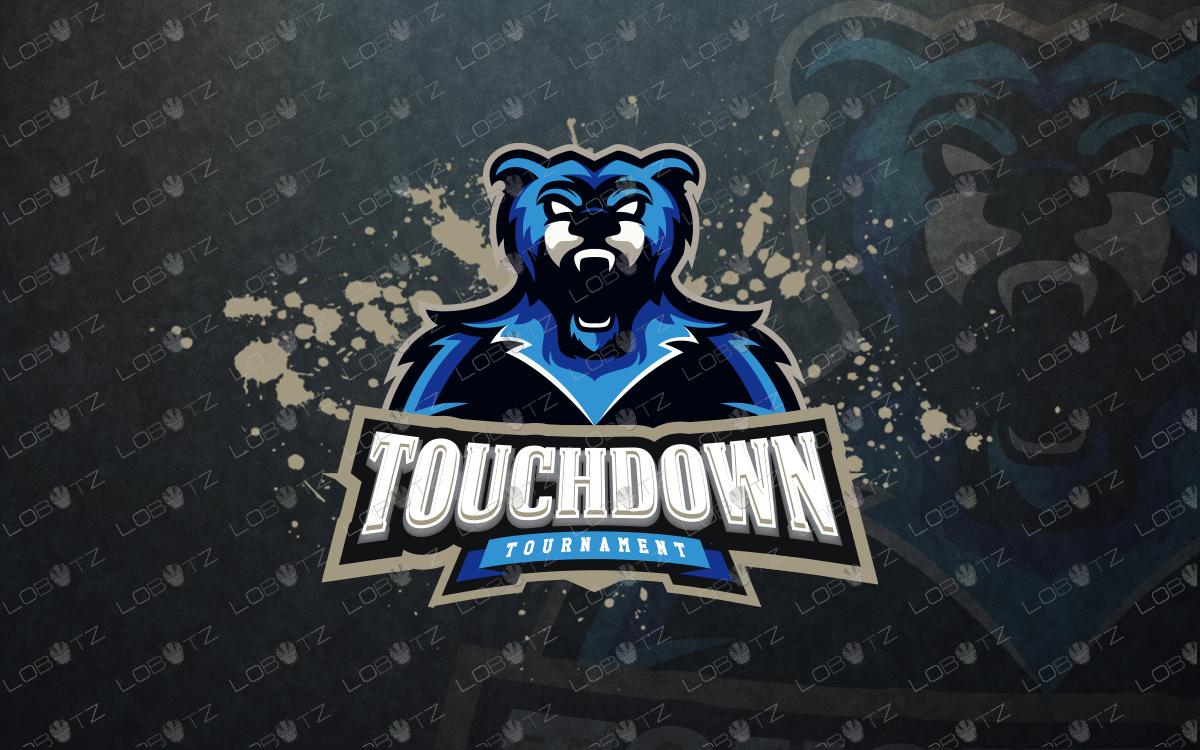 bear mascot logo bear esports logo