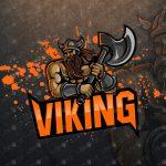 Premade Viking Mascot Logo | Viking eSports Logo For Sale