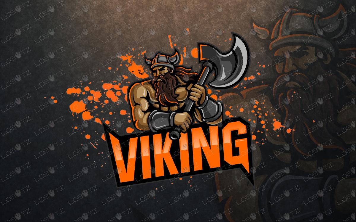 premade viking mascot logo viking esports logo