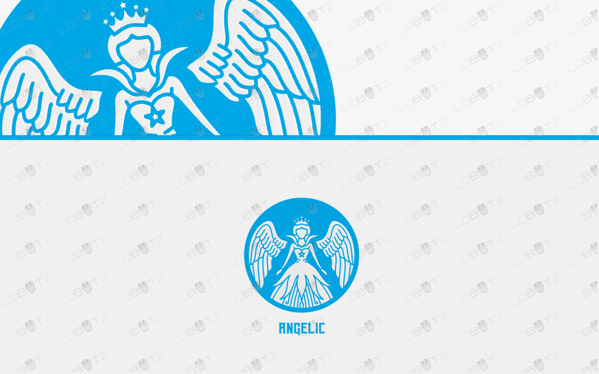 pretty angel logo for sale