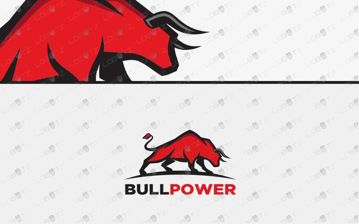 premade bull logo for sale online