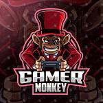Gamer Monkey Mascot Logo Gamer Monkey eSports Logo Gaming Logo