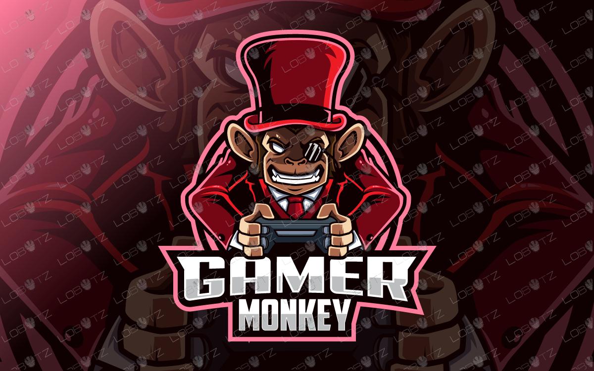 monkey mascot logo gamer monkey esports logo