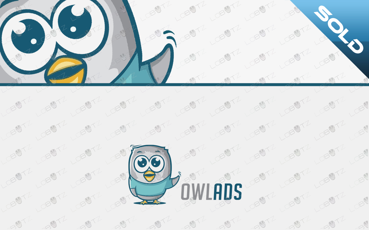 cartoon owl logo for sale