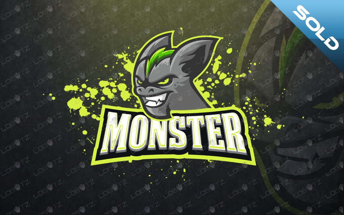 monster mascot logo monster esports logo