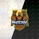 Fiery Phoenix Mascot Logo For Sale | Phoenix eSports Logo