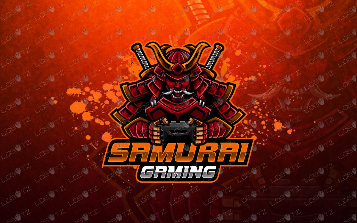 samurai mascot logo gamer samurai esports logo