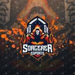 Sorcerer Mascot Logo For Sale | Sorcerer eSports Logo