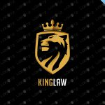 Majestic Lion Crest Logo | Royal Lion Crown Logo For Sale