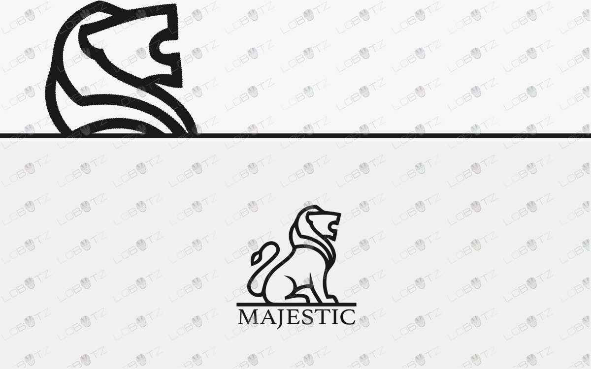 lion logo for sale premade logos
