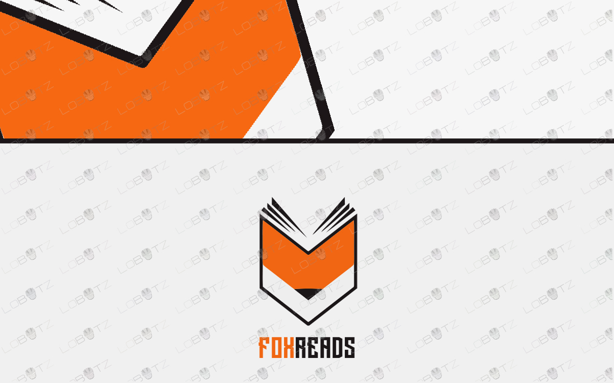 premade book logo fox logo