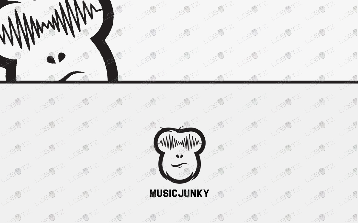 music logo music monkey logo for sale