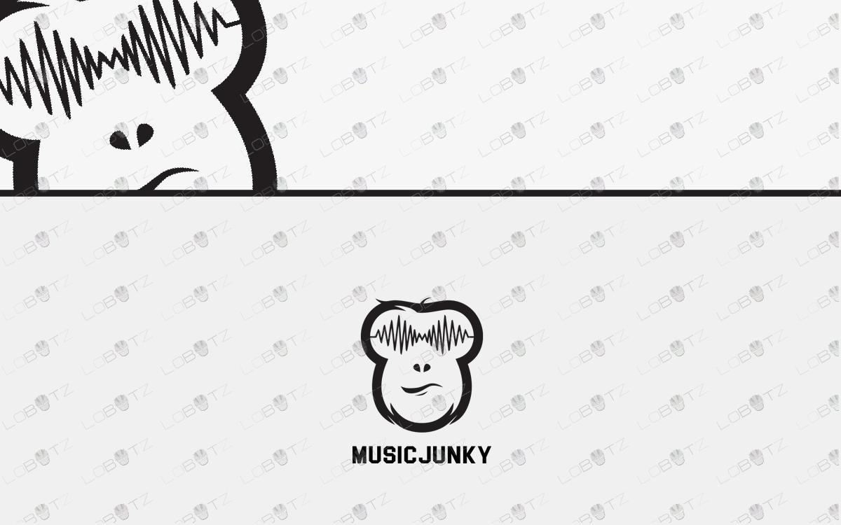 music logo music monkey logo for sale