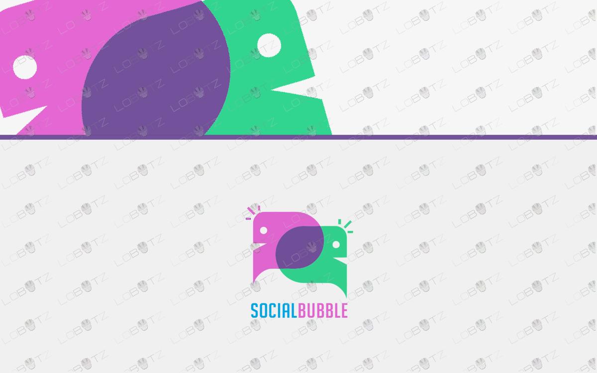 business logo speech bubble logo for sale