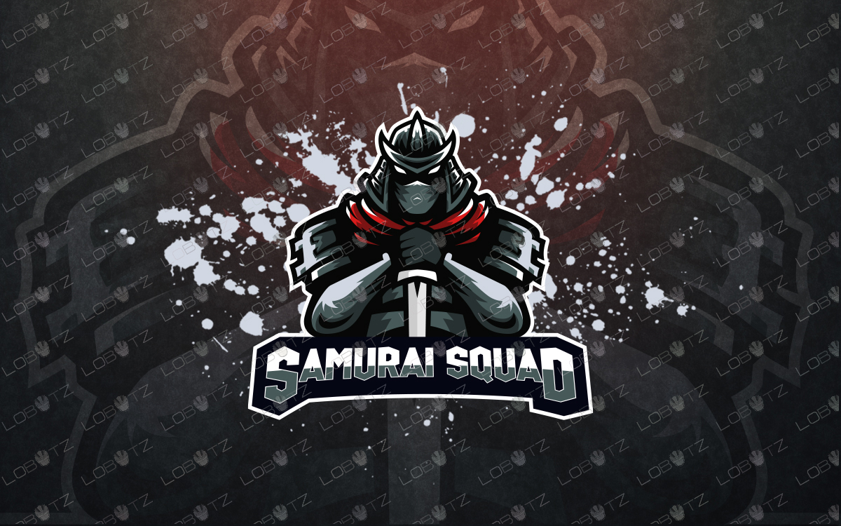 samurai mascot logo samurai esports logo premade logos