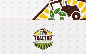 tractor farm logo for sale premade logo