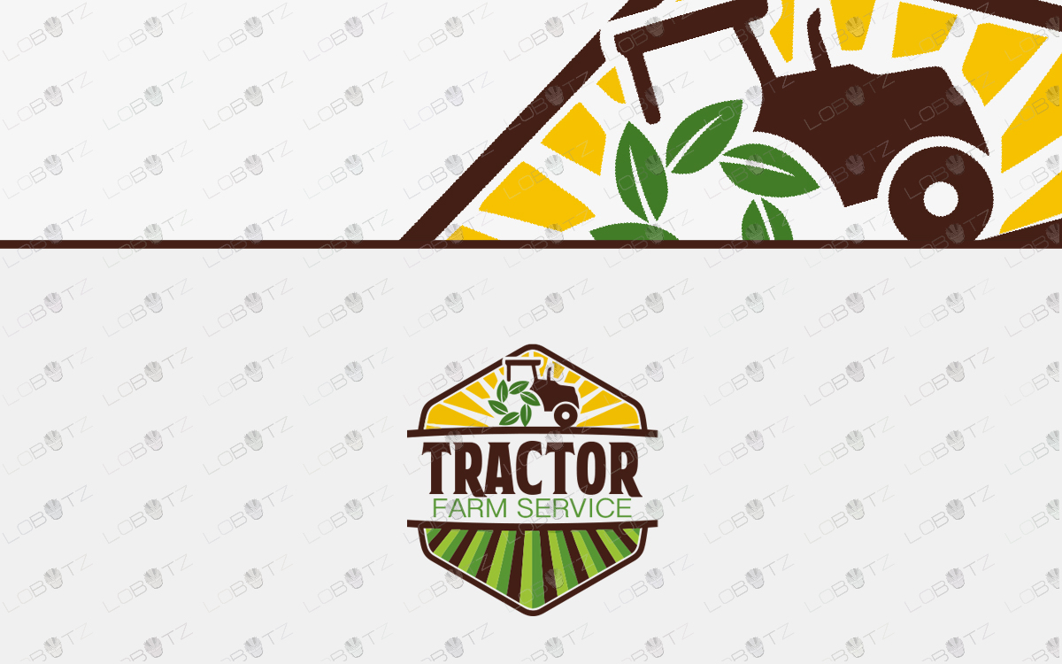 tractor farm logo for sale premade logo
