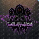 Valkyries Mascot Logo | Valkyries eSports Logo For Sale