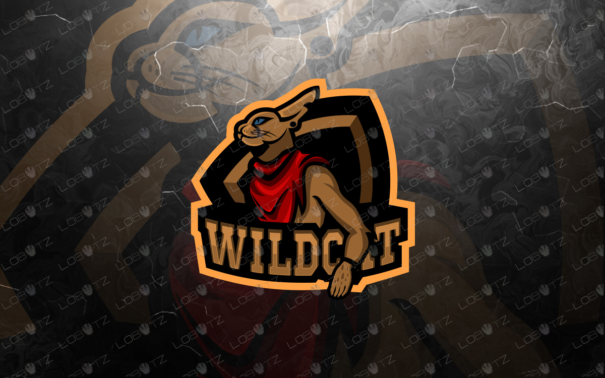 wild cat mascot logo wild cat esports logo premade logos
