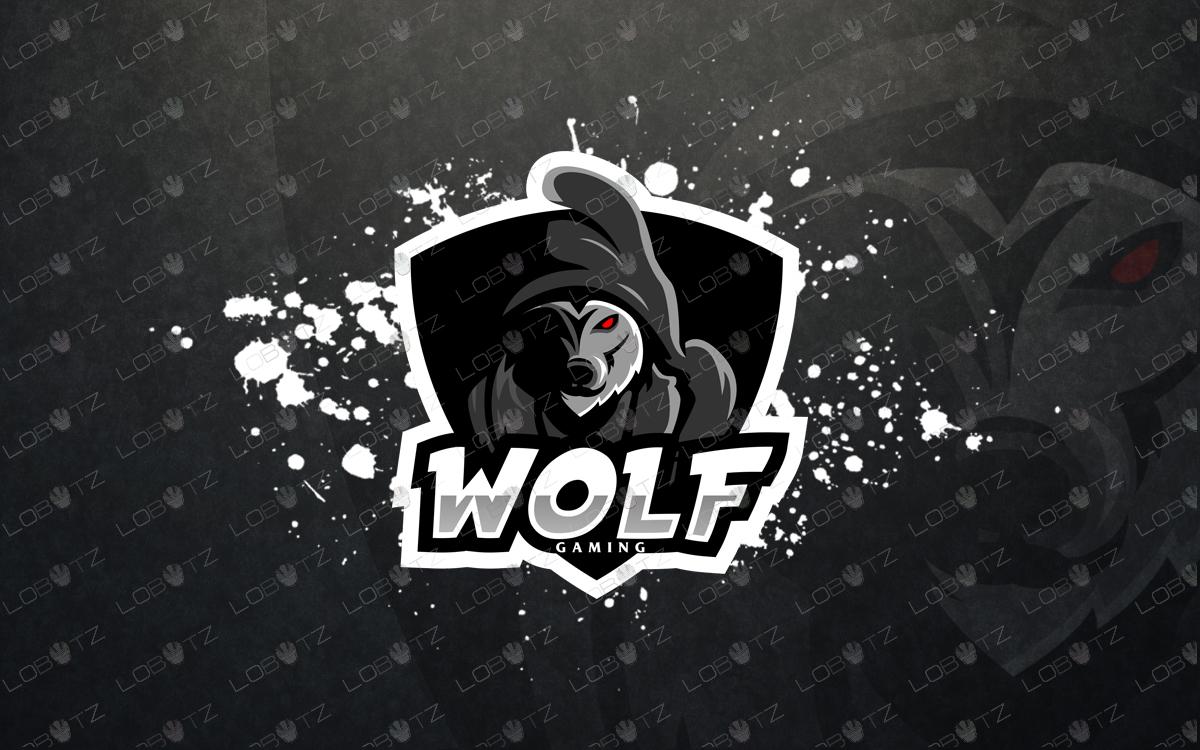 premade logo wolf mascot logowolf esports logo