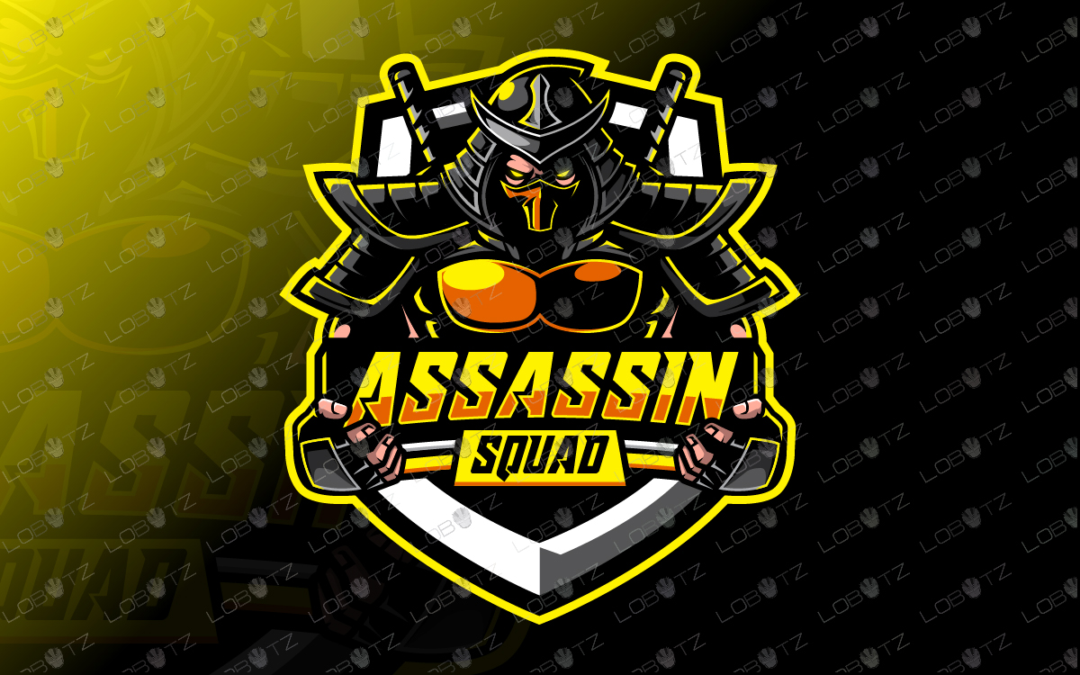 Assassin Squad Yellow assassin esports logo assassin mascot logo