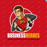 Business Super Hero Logo For Sale Cartoon Business Logo