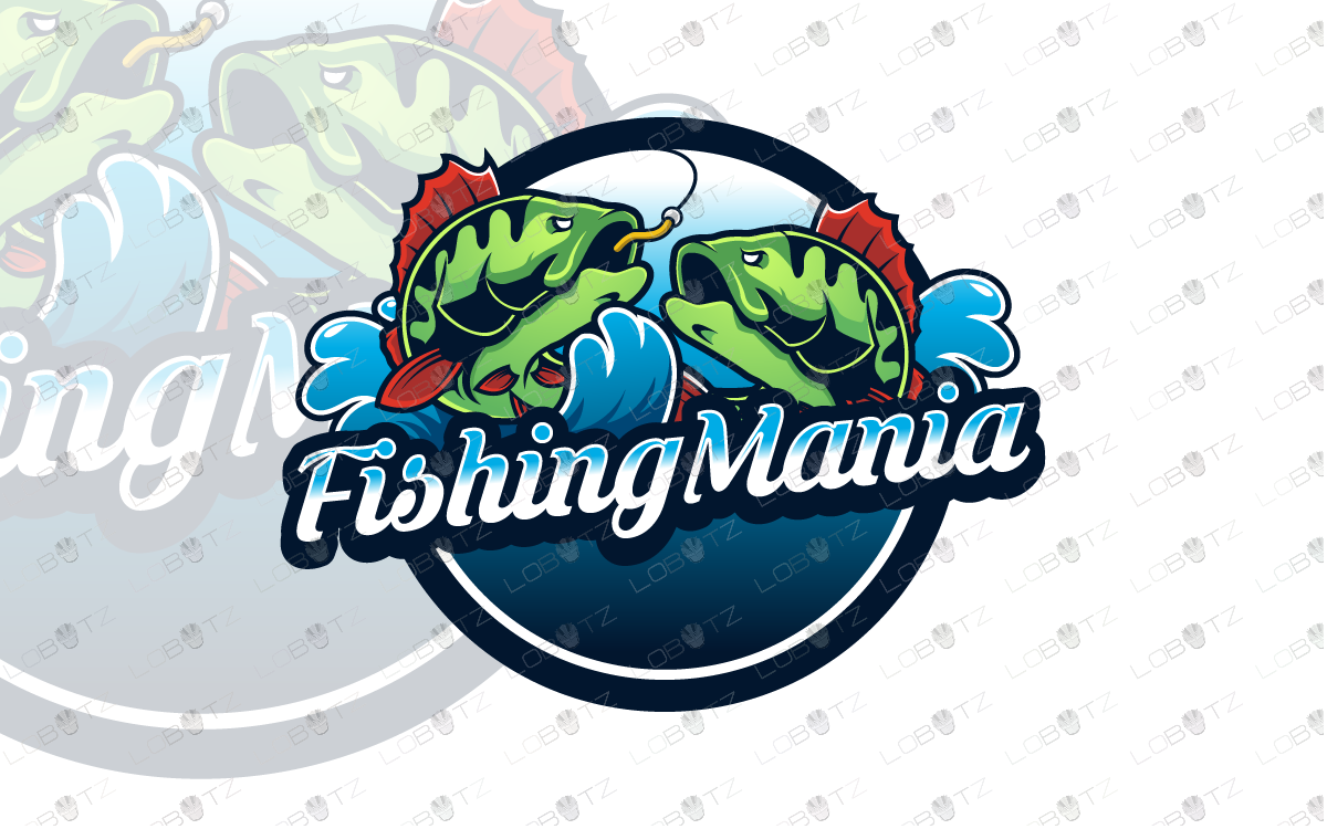 premade fishing logo for sale