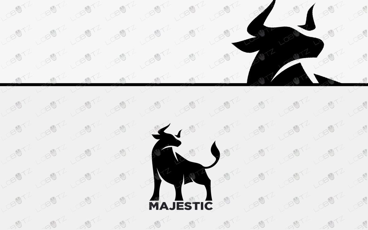 premade bull logo for sale strong logos