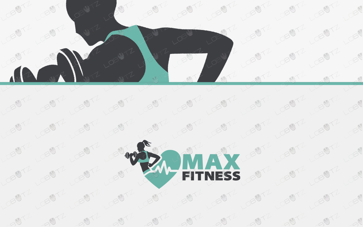 Fitness Logo For Sale female fitness