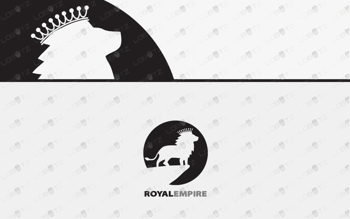 premade royal lion logo for sale