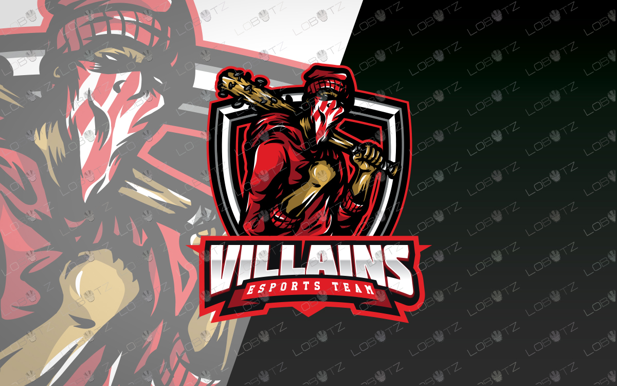 strong esports logo strong mascot logo villains logo