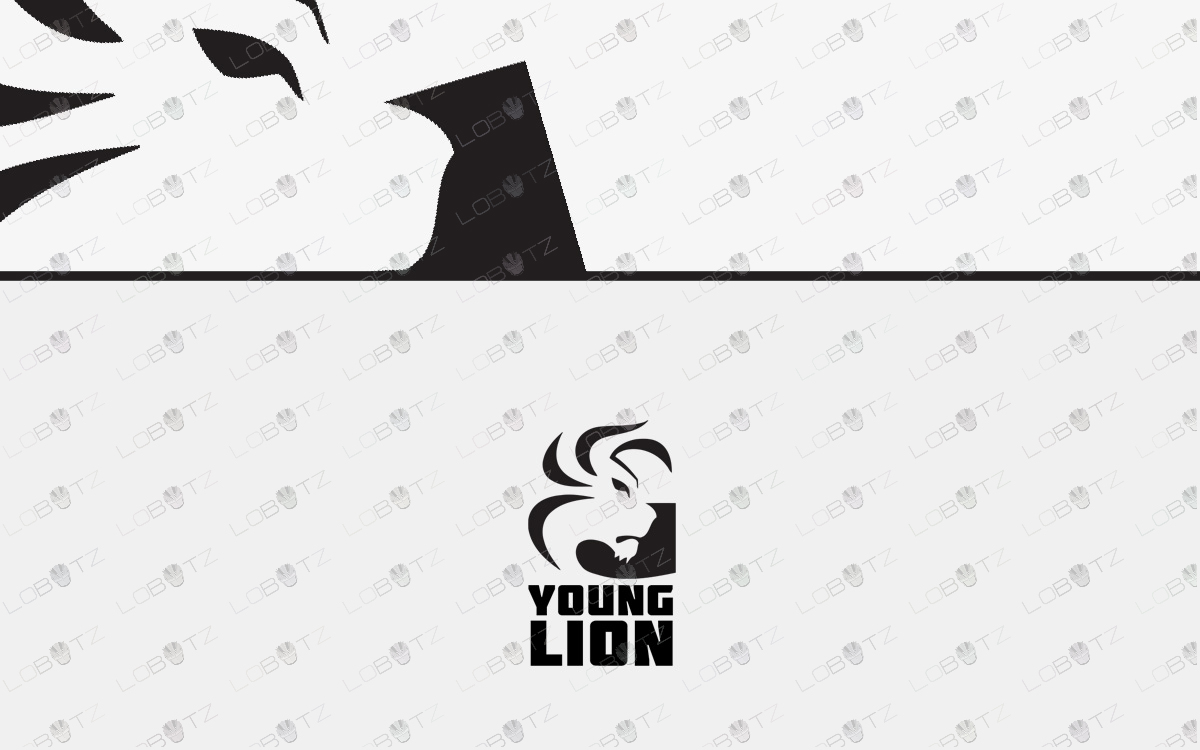 lion head logo for sale
