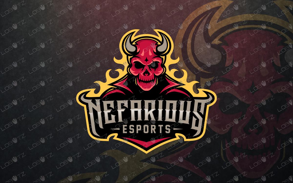 Devil mascot logo Devil eSportspremade logo design