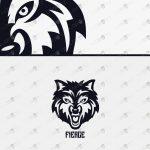 Fierce Wolf Logo For Sale Ready-Made Logo