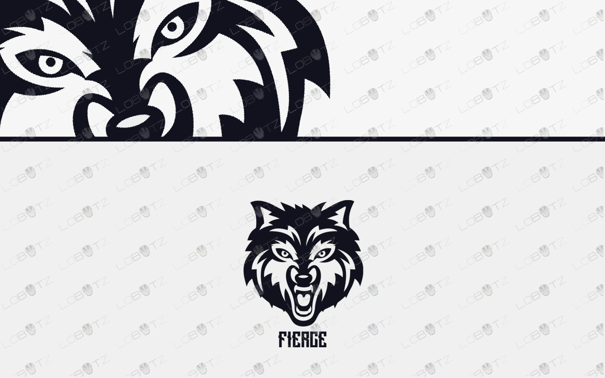 fierce wolf logo for sale