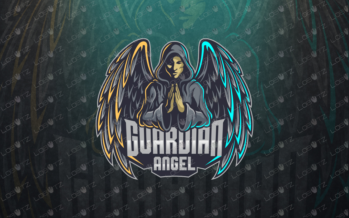 guardian angel mascot logo guardian angel esports logo