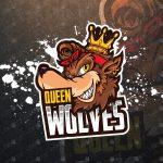 Premade Queen Wolf eSports Logo Wolf Mascot Logo