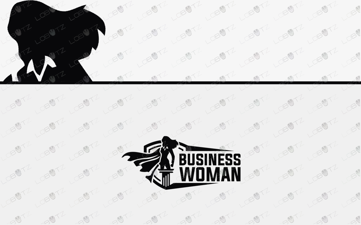 superhero business woman logo