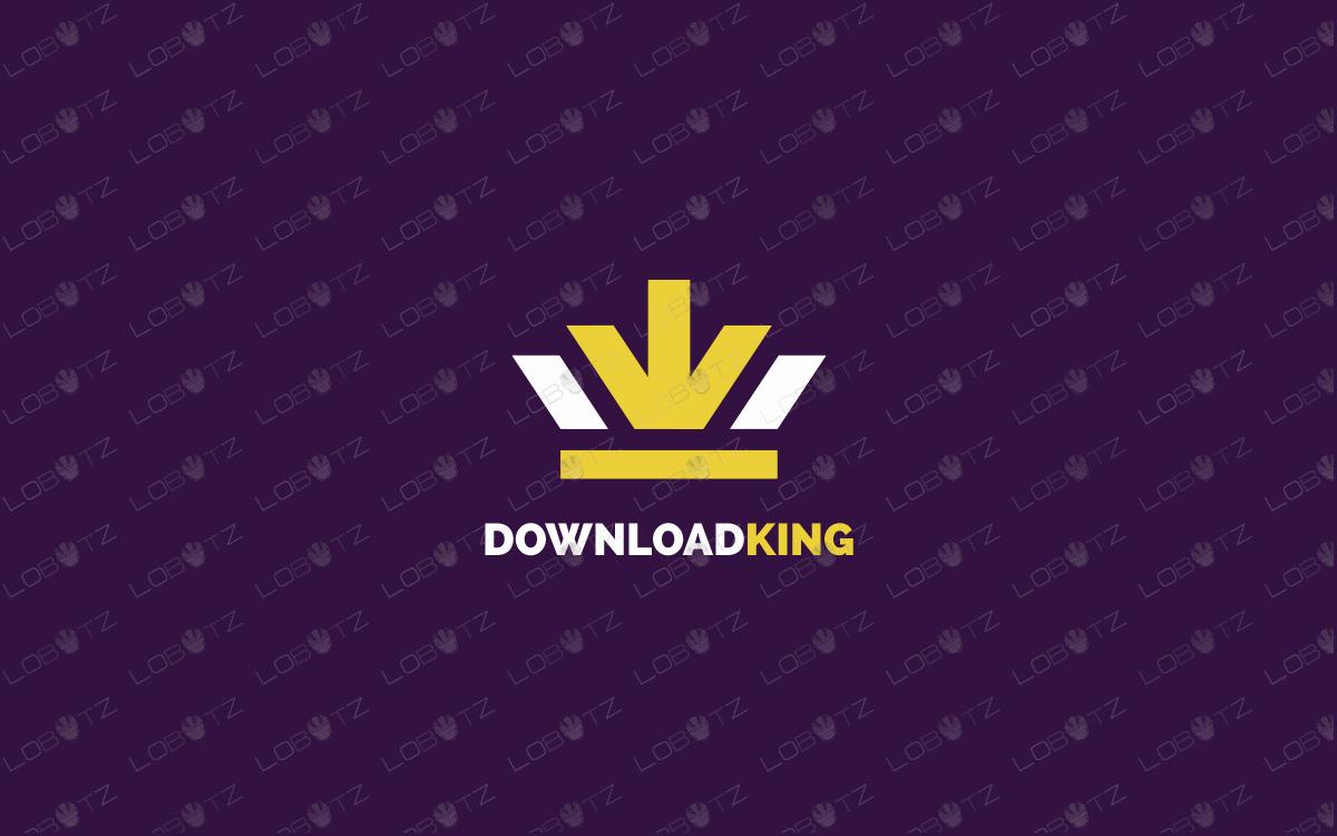 download king download crown logo for sale