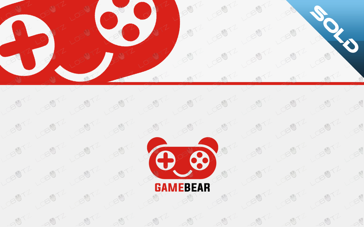 bear gaming logo for sale