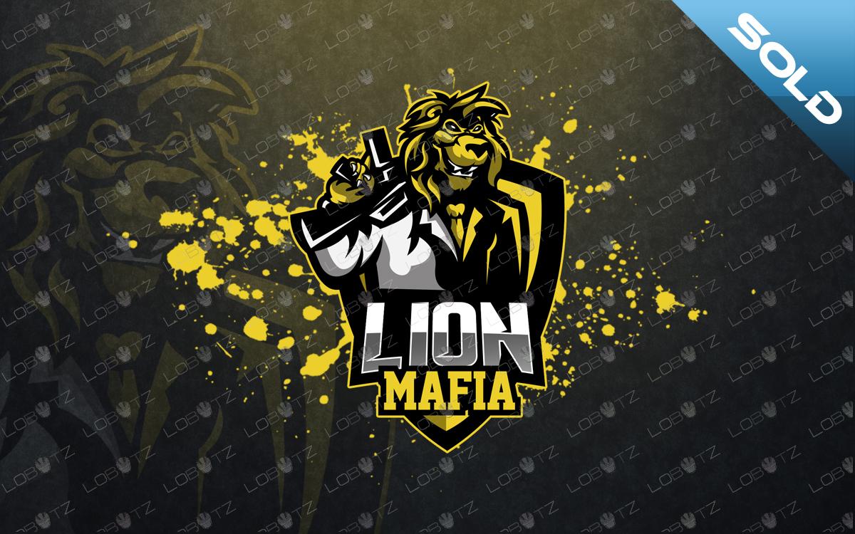 premade lion mascot logo lion esports logo