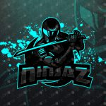 Robotic Ninja Mascot Logo | Ninja eSports Logo For Sale