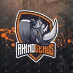 Rhino Mascot Logo Strong Rhino eSports Logo For Sale