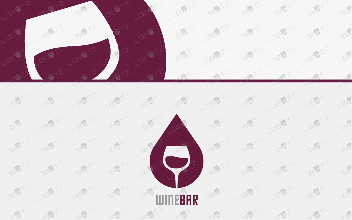 modern wine logo for sale