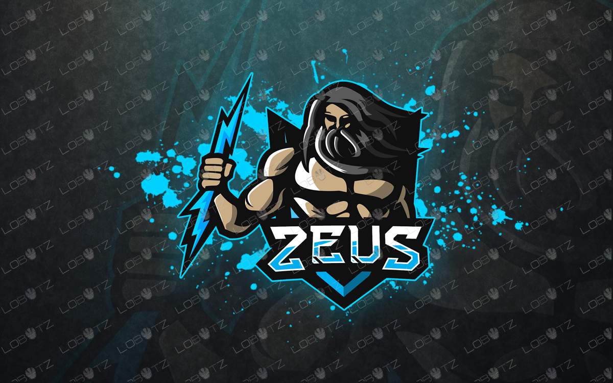 premade zeus mascot logo zeus esports logo