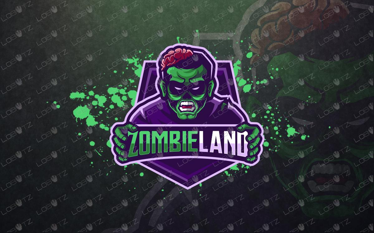 premade zombieMascotLogozombieeSports Logo