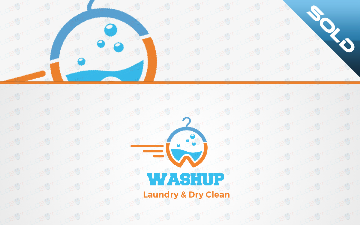 dry cleaning service logo for sale
